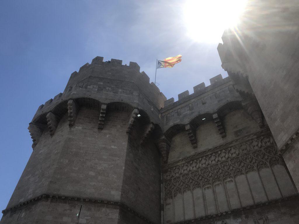 スペインバレンシアの古城