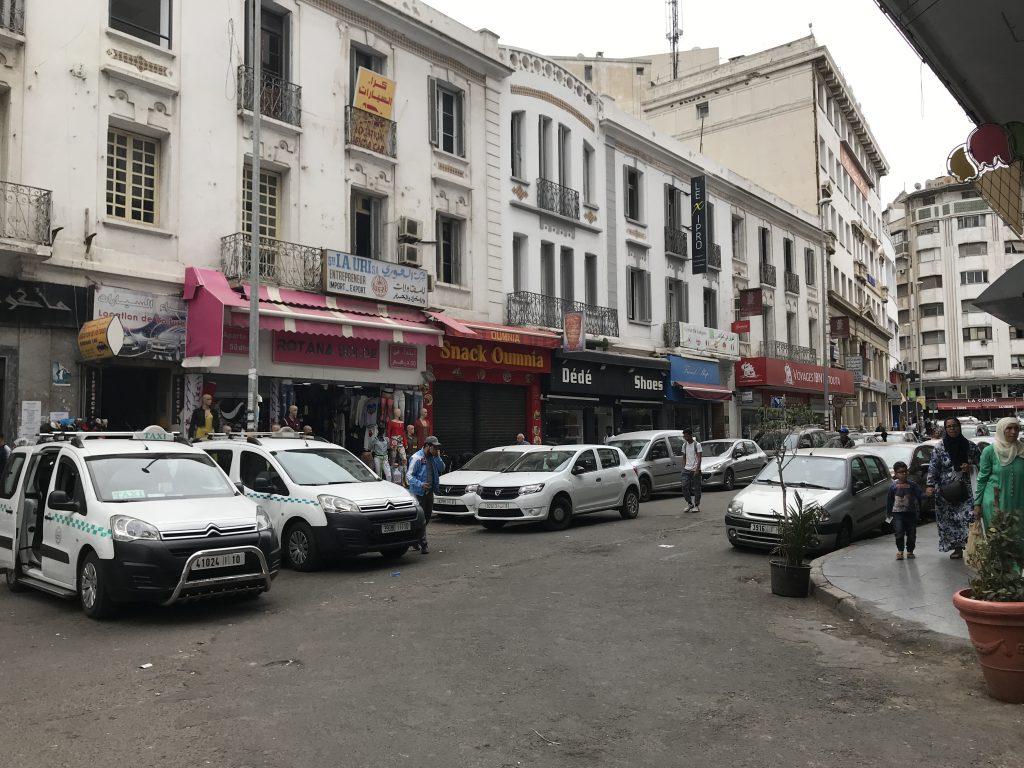モロッコカサブランカの街並み