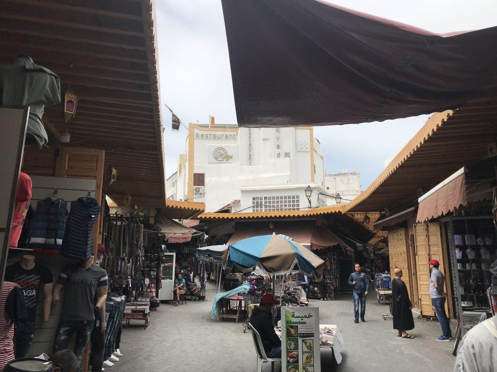 モロッコカサブランカのスークの様子