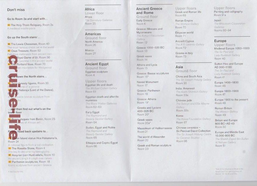 大英博物館のフロアーマップ