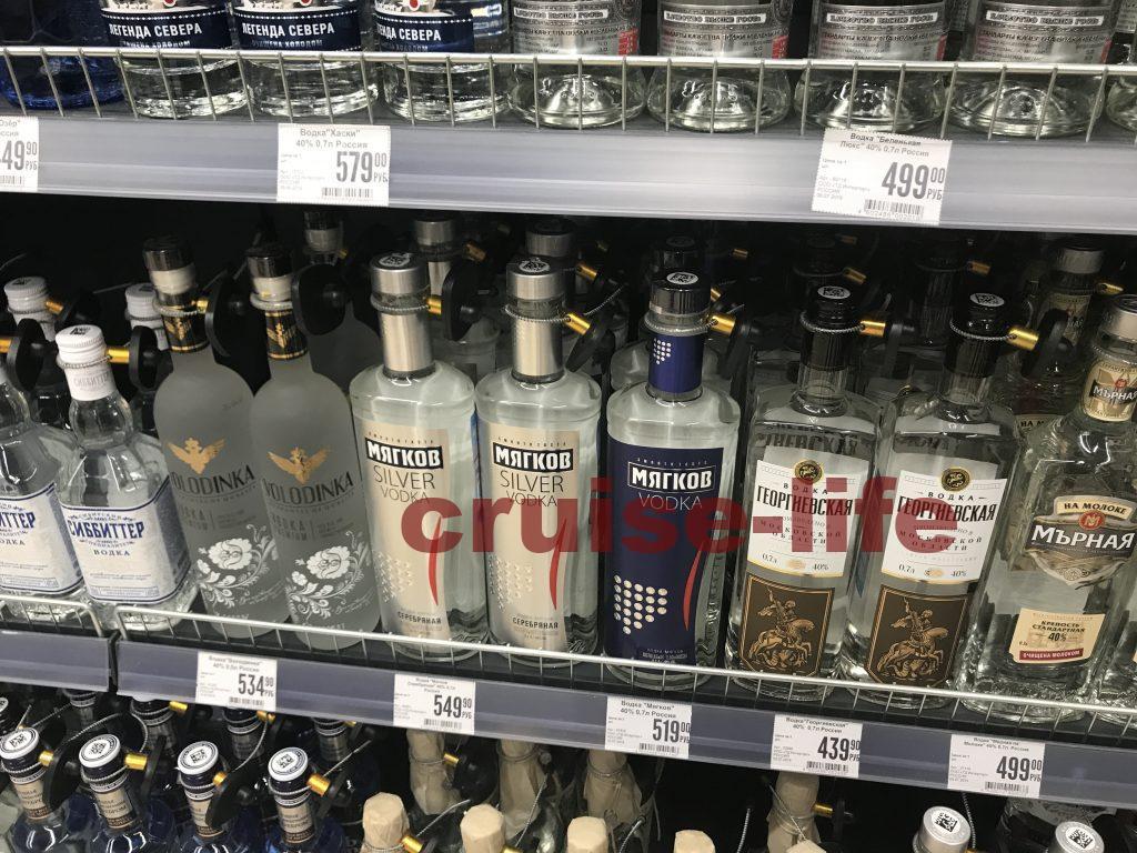 ロシアの物価のウォッカ