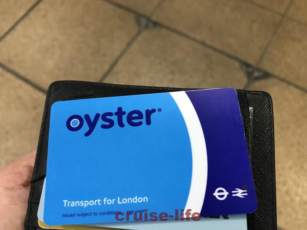 ロンドンのオイスターカード