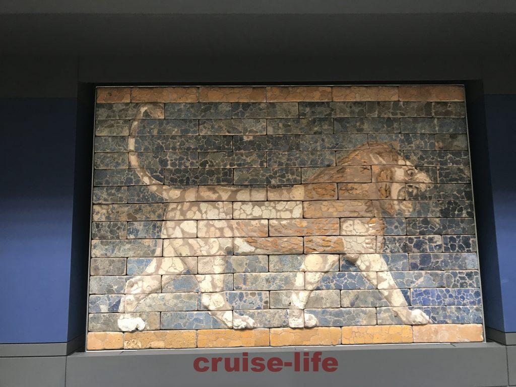 大英博物館のライオンモチーフの壁画
