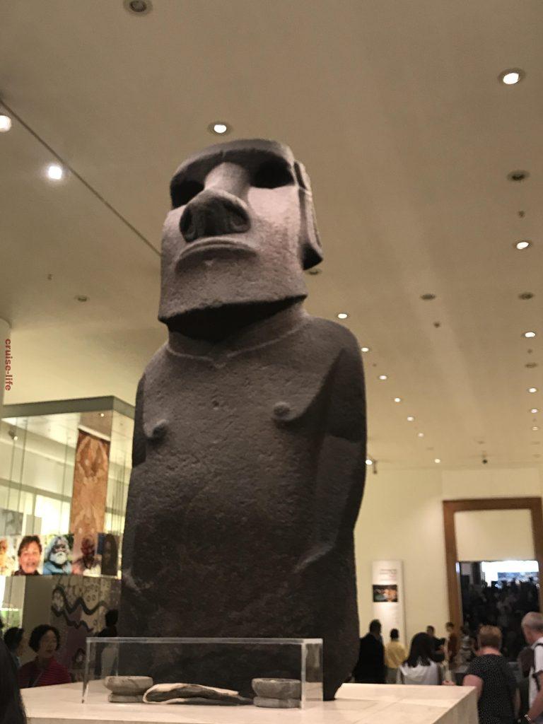 大英博物館のイースター島モアイ像
