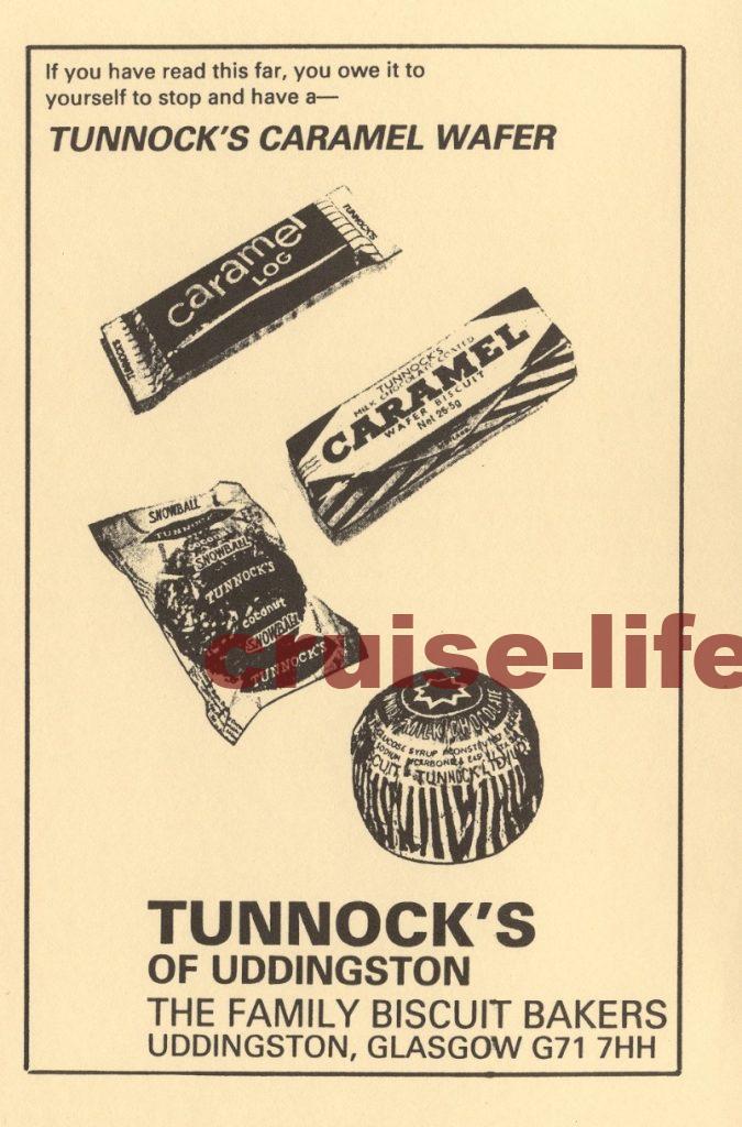 Tom Gates の本に出てくるtunnock のお菓子