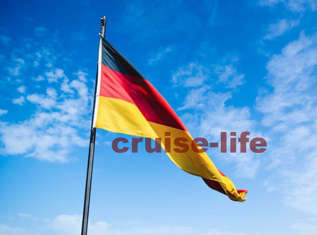 ドイツに寄港中