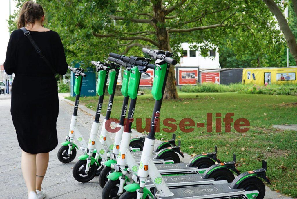 シェア電動スクーターの乗り方