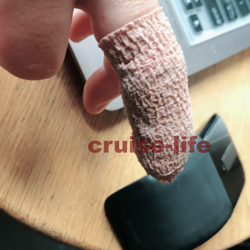 一年前に同じ場所で怪我した指