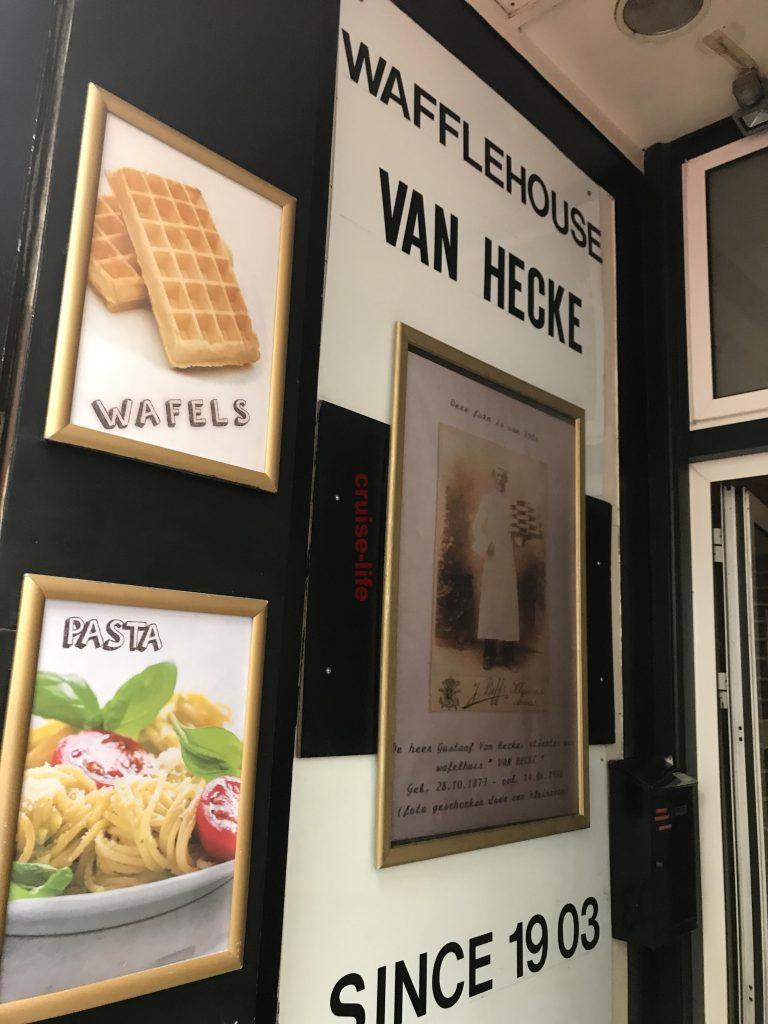 アントワープのベルギーワッフル有名店