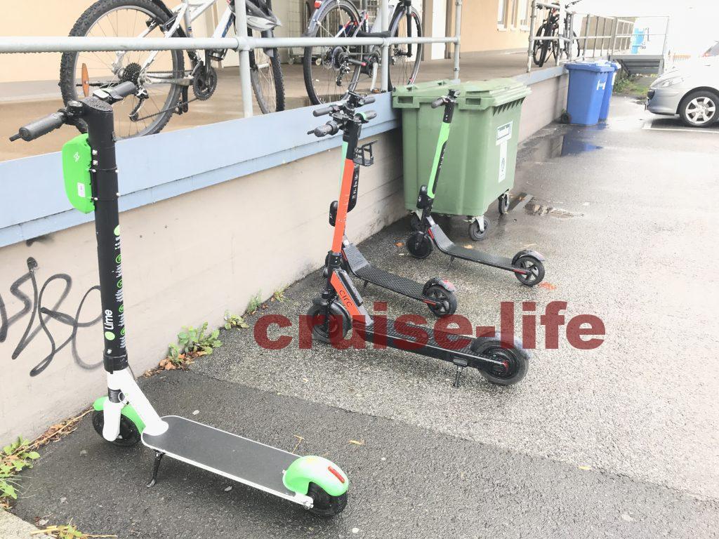 オスロの電動シェアスクーター
