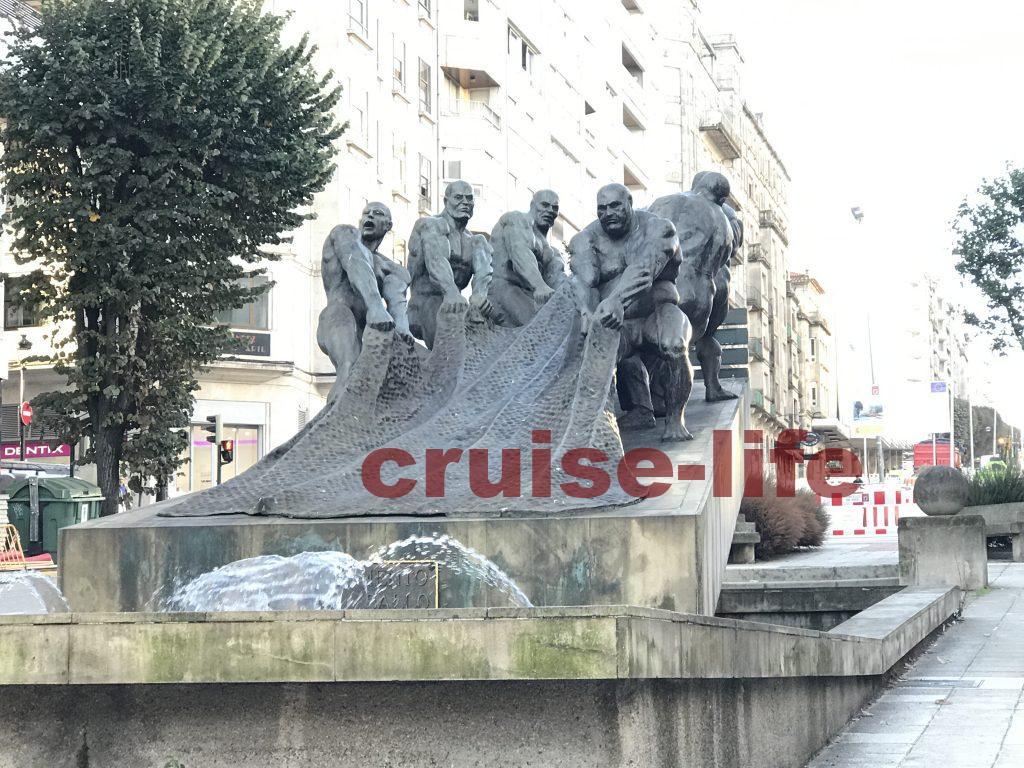 スペイン・ビーゴの銅像