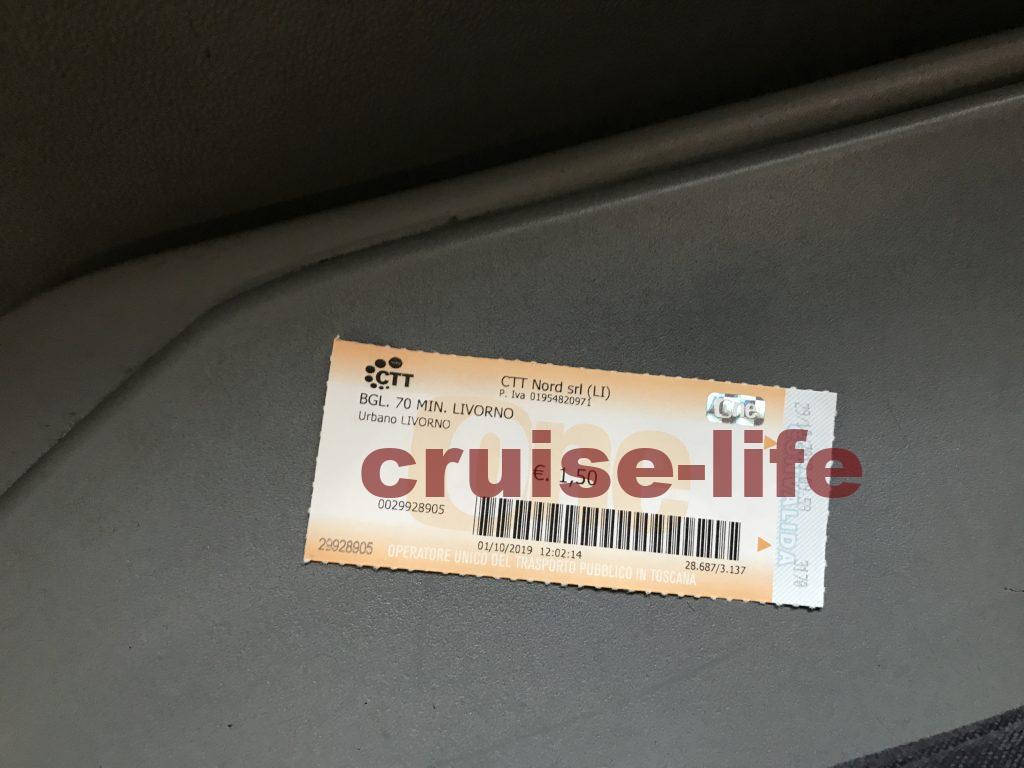 イタリアのバスのチケット