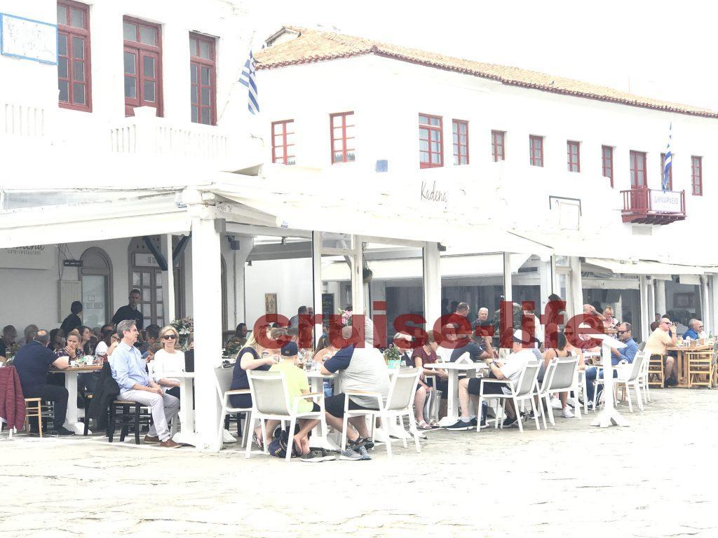 ミコノス島のレストラン