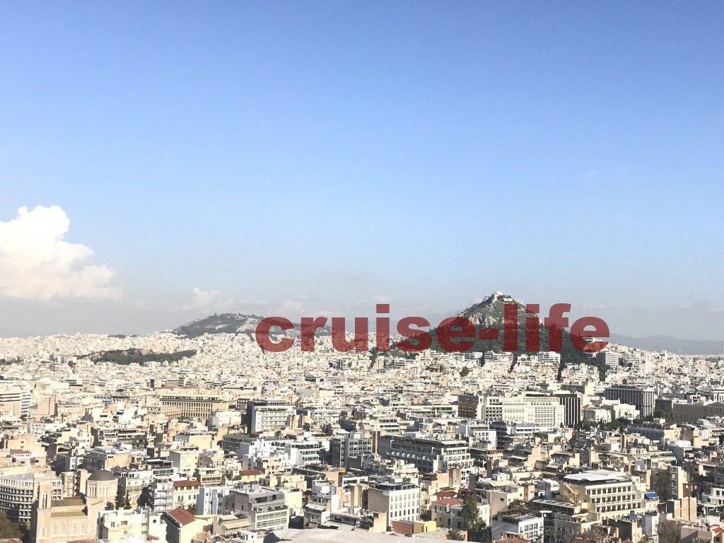 アクロポリスから見下ろすアテネ市内