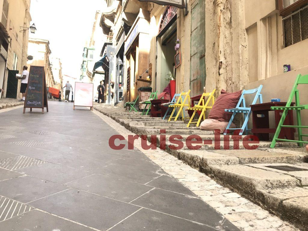 マルタ共和国のバレッタ街並み